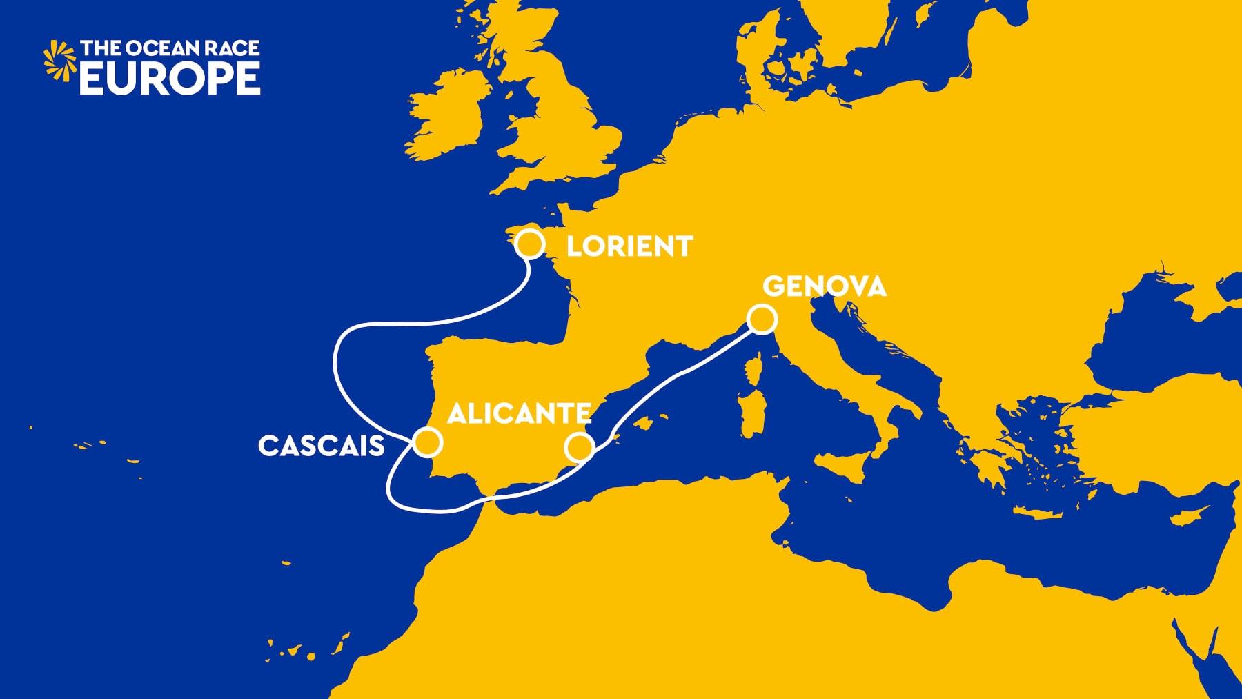 Ocean Race route